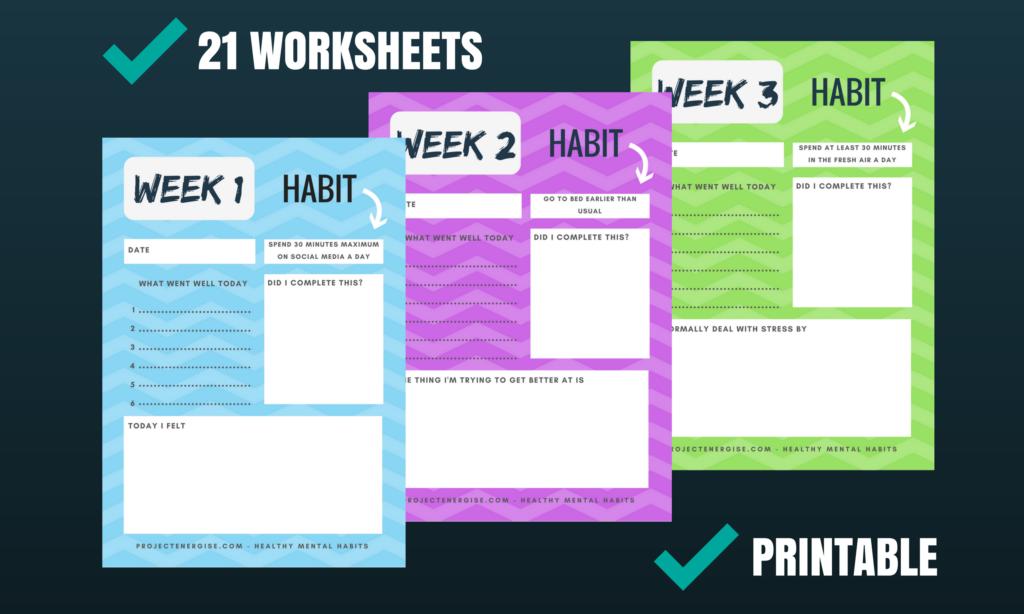 Printable Anxiety Worksheet Journal Pdf